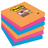 Post-it® Haftnotiz Super Sticky Notes Electric Glow Collection