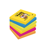 Post-it® Haftnotiz Super Sticky Rio de Janeiro Collection  76 x 76 mm (B x H) 6 Block/Pack.