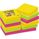 Post-it® Haftnotiz Super Sticky Rio de Janeiro Collection  48 x 48 mm (B x H) 12 Block/Pack.