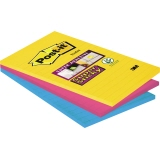 Post-it® Haftnotiz Super Sticky Rio de Janeiro Collection  101 x 152 mm (B x H) liniert 3 Block/Pack.