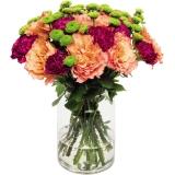 Blumenstrauß Free Spirit Rosen/Nelken/Santini