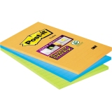 Post-it® Haftnotiz Super Sticky Notes  101 x 152 mm (B x H) 3 Block/Pack.
