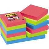 Post-it® Haftnotiz Super Sticky Notes Bora Bora Collection  12 Block/Pack.