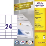 Avery Zweckform Universaletikett  2.400 Etik./Pack.
