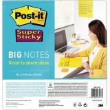 Post-it® Haftnotiz Super Sticky BIG NOTES  279 x 279 mm (B x H)