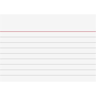 liniert wei/ß Packungsmenge 100 Karteikarte 6 mm Kartenformat A7 quer