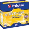 Verbatim DVD+RW  5 St./Pack. A007843S