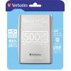 Verbatim Festplatte extern Store 'n' Go USB 3.0  500 Gbyte silber A009359S