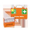 SÖHNGEN® Erste Hilfe Koffer QUICK-CD  inkl. Pflasterspender aluderm®-aluplast, Wandhalterung mit 90°-Stopp-Arretierung A007134G