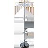 ALCO Garderobenständer  48 cm 3 Haken A016383P