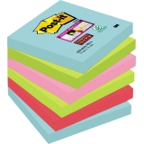 Post-it® Haftnotiz Super Sticky Notes Miami Collection  76 x 76 mm (B x H)