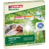 edding Textmarker Highlighter 24 EcoLine 4 St./Pack.