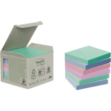 Post-it Haftnotiz Recycling Notes Mini Tower Pastel Rainbow