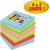 Post-it Haftnotiz Super Sticky Notes Miami Collection 76 x 76 mm (B x H)