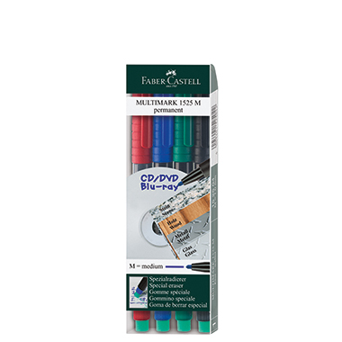 Faber-Castell CD/DVD Marker MULTIMARK 1525  4 St./Pack.