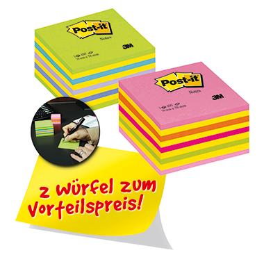 Post-it® Haftnotizwürfel Promotion