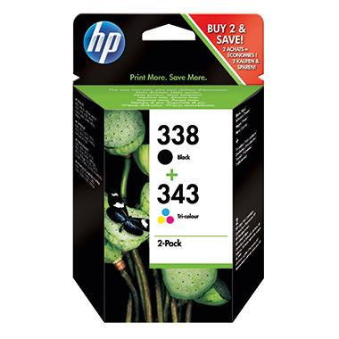 HP Tintenpatrone 338+343