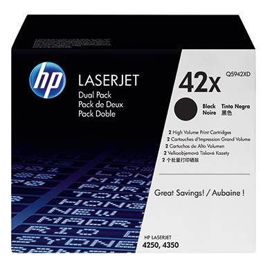 HP Toner  42X 2 St./Pack.