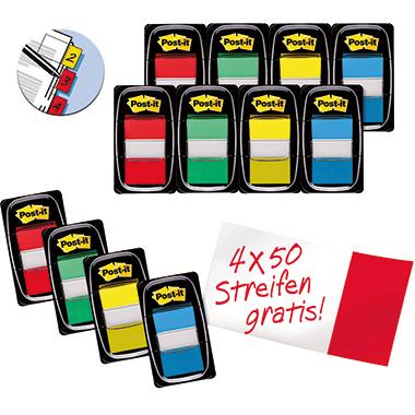 Post-it® Haftstreifen Index Standard Promotion  inkl. 4 x 50 Bl. Post-it® Index Standard gratis