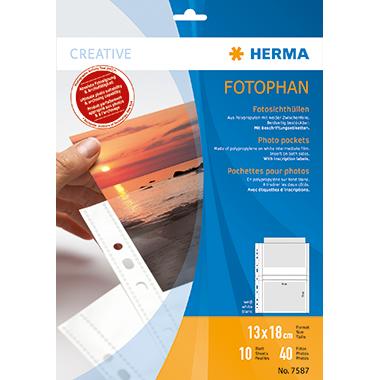 HERMA Fotohülle  13 x 18 cm (B x H) 4 Fotos/Hülle