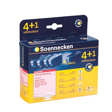 Soennecken Tintenpatrone  Canon PGI525BK/CLI526