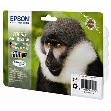 Epson Tintenpatrone  T0895 schwarz, mehrfarbig