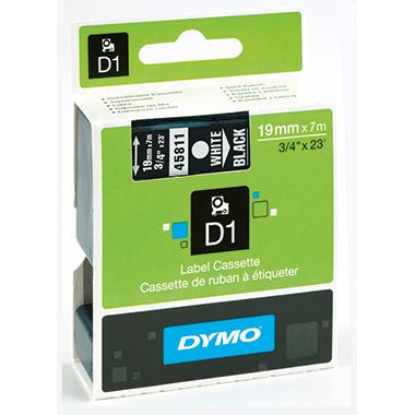 DYMO® Schriftbandkassette D1 19 mm x 7 m (B x L)  weiß