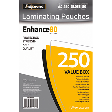 Fellowes® Laminierfolie Enhance 80  224 x 300 mm (B x H)
