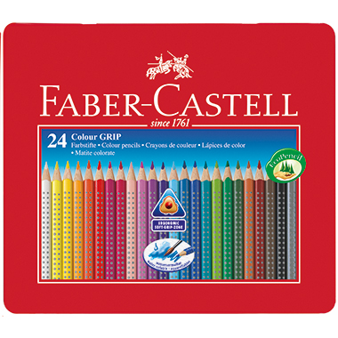 Faber-Castell Farbstift Colour GRIP  Metalletui 24 St./Pack.