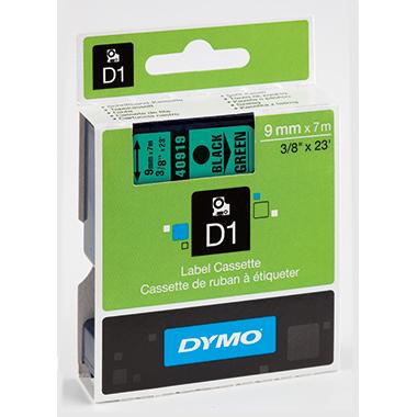 DYMO® Schriftbandkassette D1 9 mm x 7 m (B x L) schwarz