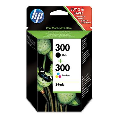 HP Tintenpatrone  300 schwarz, cyan/magenta/gelb