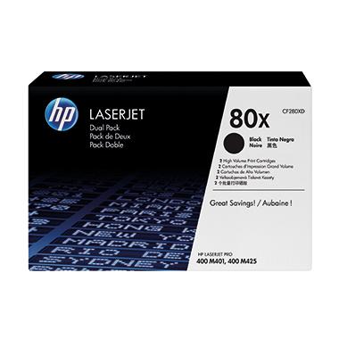 HP Toner 80X schwarz  2 St./Pack.