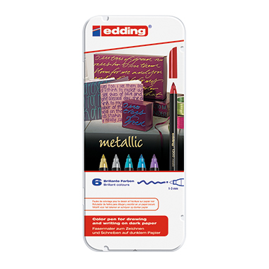 edding Fasermaler colourpen 1200 metallic  6 St./Pack.