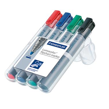 STAEDTLER® Flipchartmarker Lumocolor® 356  2 mm Rundspitze 4 St./Pack.