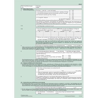 RNK Mietvertrag Wohnung 1 Durchschlag inkl. Hausordnung, Übergabeprotokoll