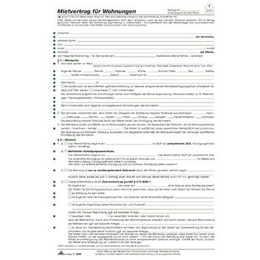 RNK Mietvertrag  Wohnung inkl. Hausordnung