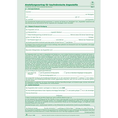 RNK Arbeitsvertrag kaufmännische Angestellte
