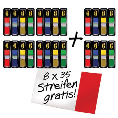Post-it® Haftstreifen Index Mini Promotion  24 Block/Pack.