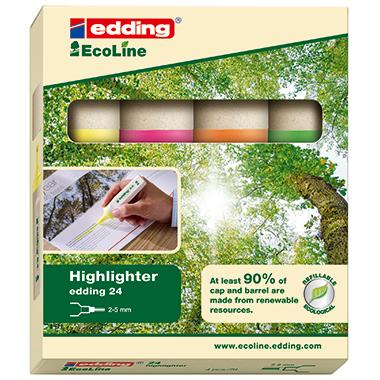 edding Textmarker Highlighter 24 EcoLine  4 St./Pack.