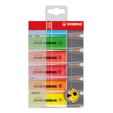 STABILO® Textmarker BOSS® ORIGINAL  nachfüllbar 6 St./Pack.