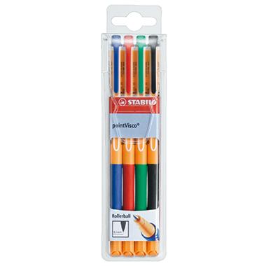STABILO® Tintenroller pointVisco®  4 St./Pack.