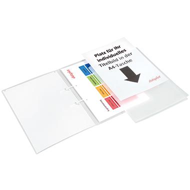 dataplus® Schnellhefter mit Sichttasche auf dem Vorderdeckel