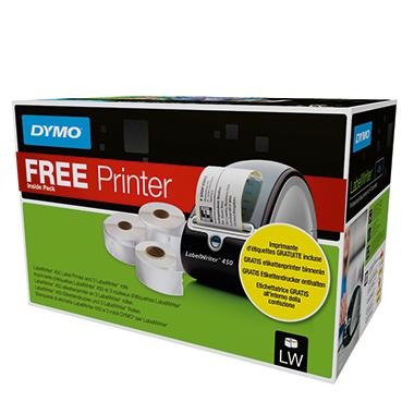 DYMO® Endlosetikett inkl. Etikettendrucker LabelWriter™ 450 gratis, USB-Kabel, Software