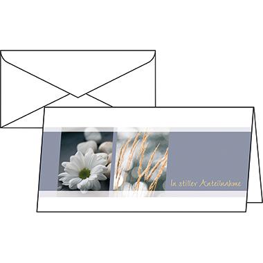 Sigel Faltkarte Trauerkarte 210 x 105 mm (B x H)
