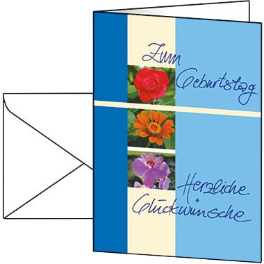 Sigel Faltkarte Glückwunsch 105 x 148 mm (B x H) Außenseite: hochglänzend, Innenseite: matt