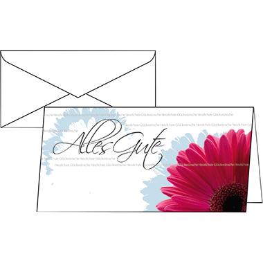 Sigel Faltkarte Glückwunsch  210 x 105 mm (B x H) Außenseite: hochglänzend, Innenseite: matt