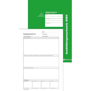 RNK Berichtsblock Ausbildungsnachweis wöchentlich/monatlich