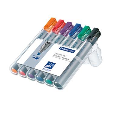STAEDTLER® Flipchartmarker Lumocolor® 356  2-5 mm Keilspitze 6 St./Pack.