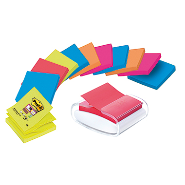 Post-it® Haftnotizspender Super Sticky Z-Notes  weiß/transparent