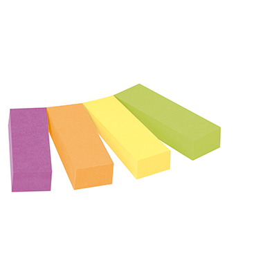 Post-it® Haftstreifen Page Marker schmal  4 Block/Pack.